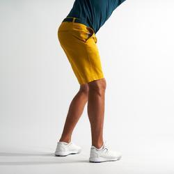 Golfbermuda voor heren geel