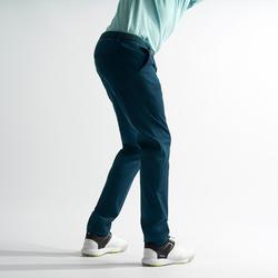 Golfbroek voor heren zacht weer donker petroleumblauw