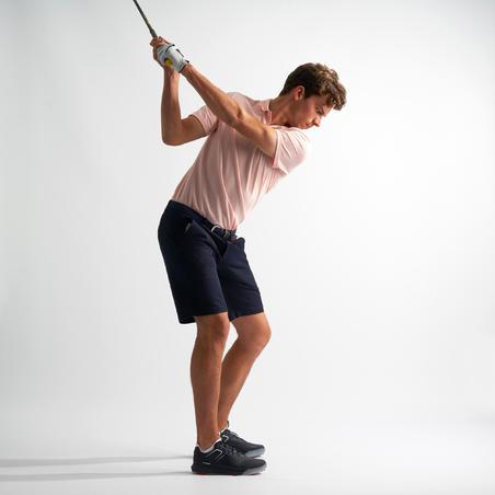 Men's Golf Short Sleeve Polo Shirt - Light Pink