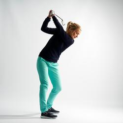Golftrui voor dames zacht weer marineblauw