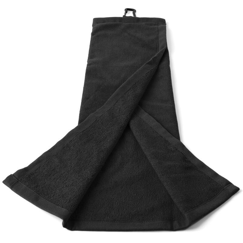 Trojnásobně složený ručník na golf černý
