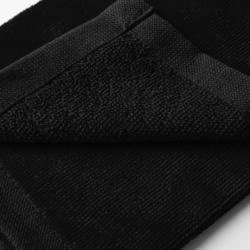 Driedubbel gevouwen handdoek voor golf zwart