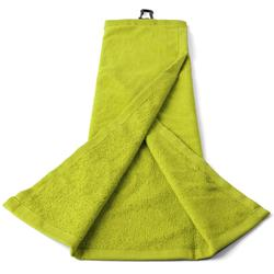 Yellow three-ply golf towel