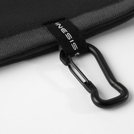 Serviette de golf à trois plis noir