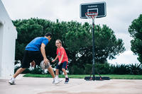 Canasta básquetbol niño/adulto B100 Easy. Ajustable sin herramientas 2.20-3.05 m