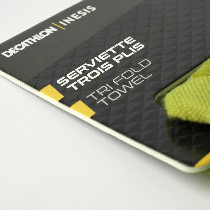 Toalla de golf tres pliegues amarillo