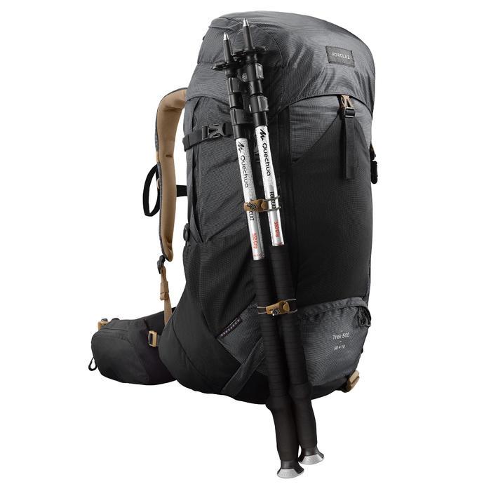 Sac à dos trekking montagne TREK500 50L +10L Homme Noir