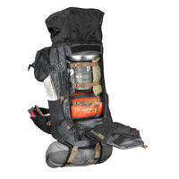 Mochila trekking montaña TREK500 50 L +10 L Hombre Negro