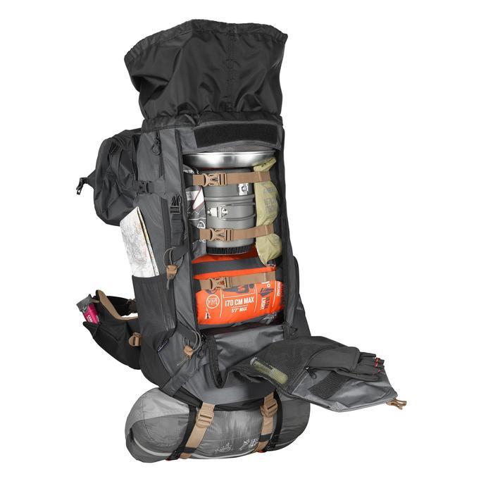 Trekkingrucksack Trek 500 mit 50+10 Liter Herren schwarz