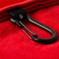 Serviette de golf à trois rois plis rouge