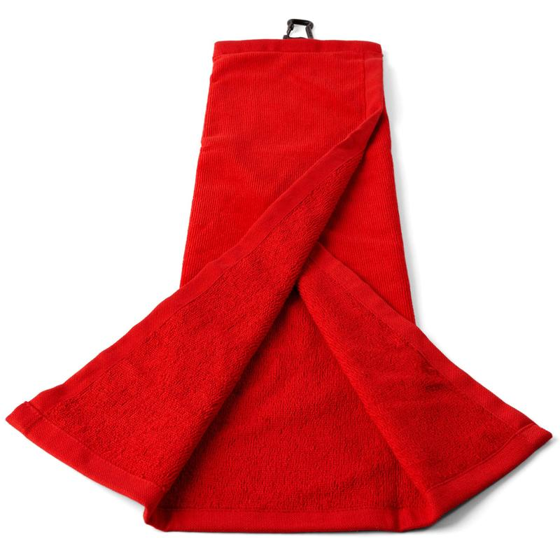 Tri-Fold Golf Towel - Red