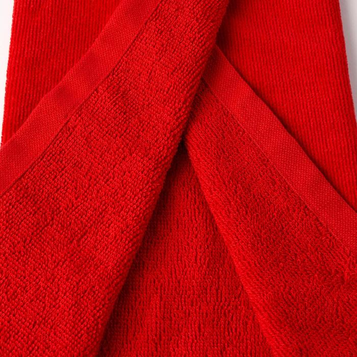 Driedubbel gevouwen handdoek voor golf rood