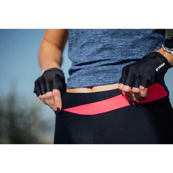 Fietsbroek 500 zonder bretels voor dames zwart roze