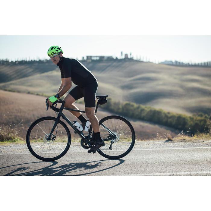 Cuissard vélo route à bretelles homme cyclotourisme RC500 noir