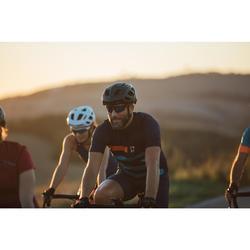 Maillot vélo route manches courtes homme temps chaud RC500 bleu