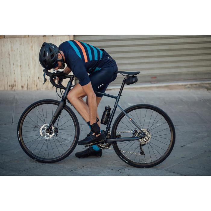 Leren fietsschoenen SPD 520 met veters en gesp zwart