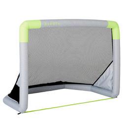 Opblaasbaar voetbaldoeltje NG500S 100X70 cm grijs/geel