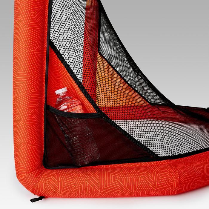 Opblaasbaar voetbaldoel NG500S rood oranje