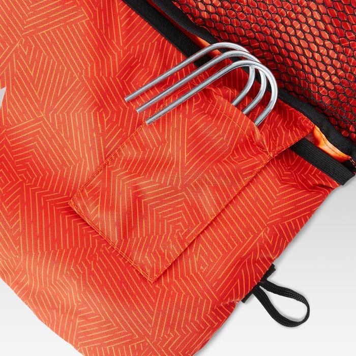 Opblaasbaar voetbaldoel Air Kage rood oranje