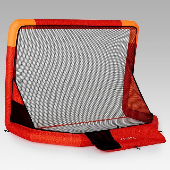 Opblaasbaar voetbaldoeltje NG500S 100X70 cm rood/oranje