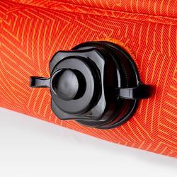 Opblaasbaar voetbaldoeltje Air Kage 95x70 cm rood/oranje