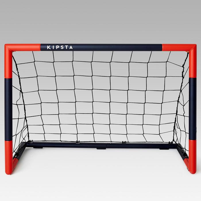 Voetbaldoeltje Classic Goal SG500 maat S 95 x 70 cm marineblauw/rood