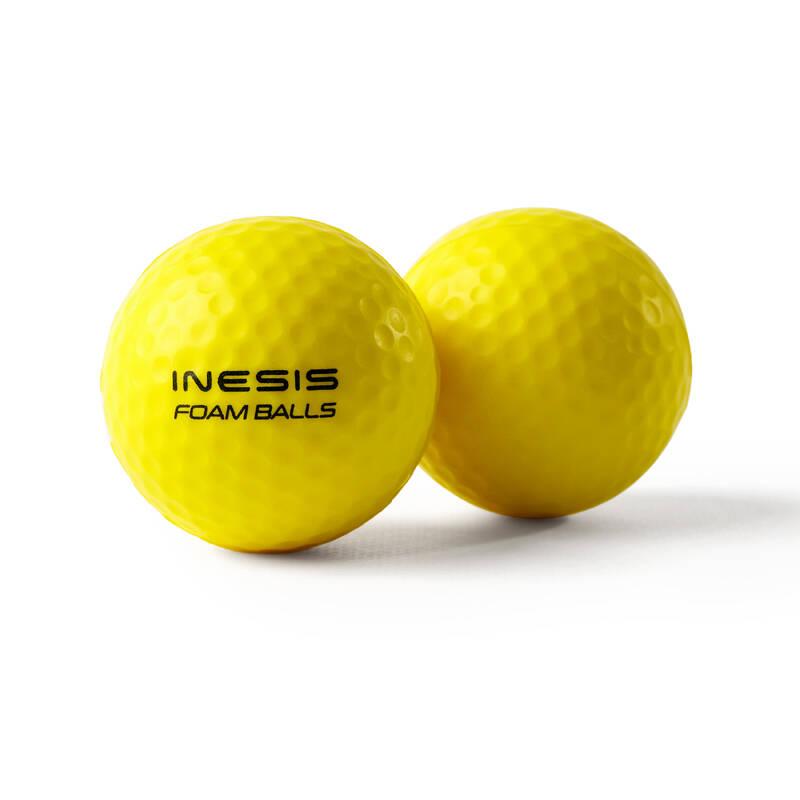 HRANÍ GOLFU DOMA Golf - GOLFOVÉ PĚNOVÉ MÍČKY 6 KS INESIS - Míčky a příslušenství
