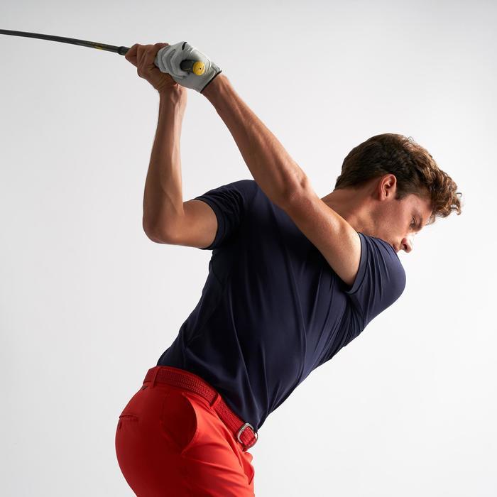 Ademende golfpolo voor heren marineblauw