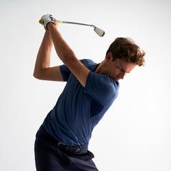 Golf Poloshirt Herren atmungsaktiv blau meliert