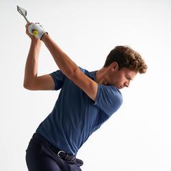 Ademende golfpolo voor heren gemêleerd blauw