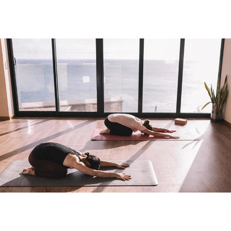 studio dynamic yoga mat 5 mm  grey  domyosdecathlon