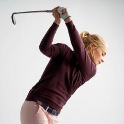 Golftrui voor dames bordeaux