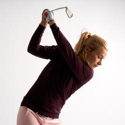 Golftrui voor dames zacht weer bordeaux
