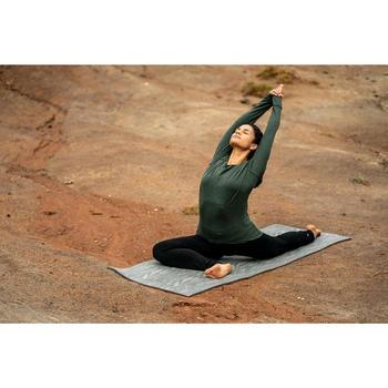 Yogamatte Komfort 8mm grau mit Print