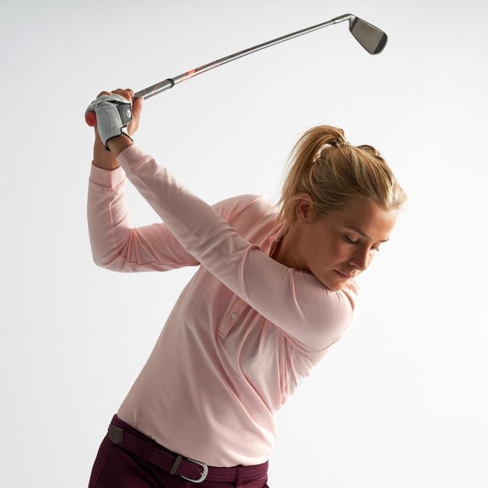 Golfpolo met lange mouwen voor dames lichtroze
