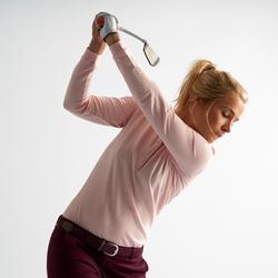 Golf Poloshirt Langarm Damen blassrosa