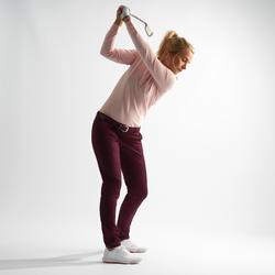 Golfbroek voor dames zacht weer bordeaux