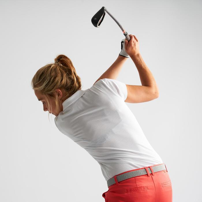 Polo de golf mujer manga corta 500 tiempo templado blanco