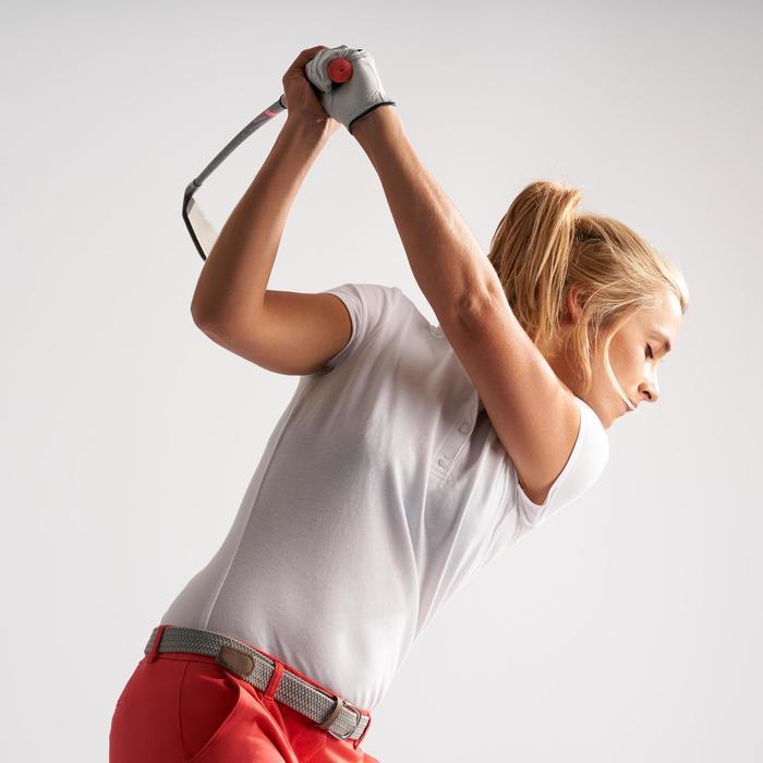 Golf Poloshirt kurzarm Damen weiß