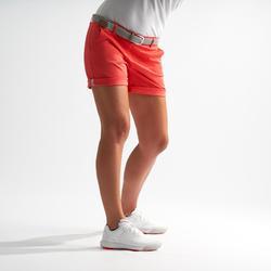 Golfbermuda voor dames aardbeirood