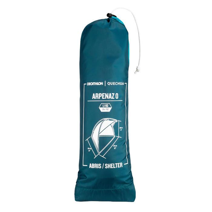 Schutzzelt Stangenaufbau NH blau