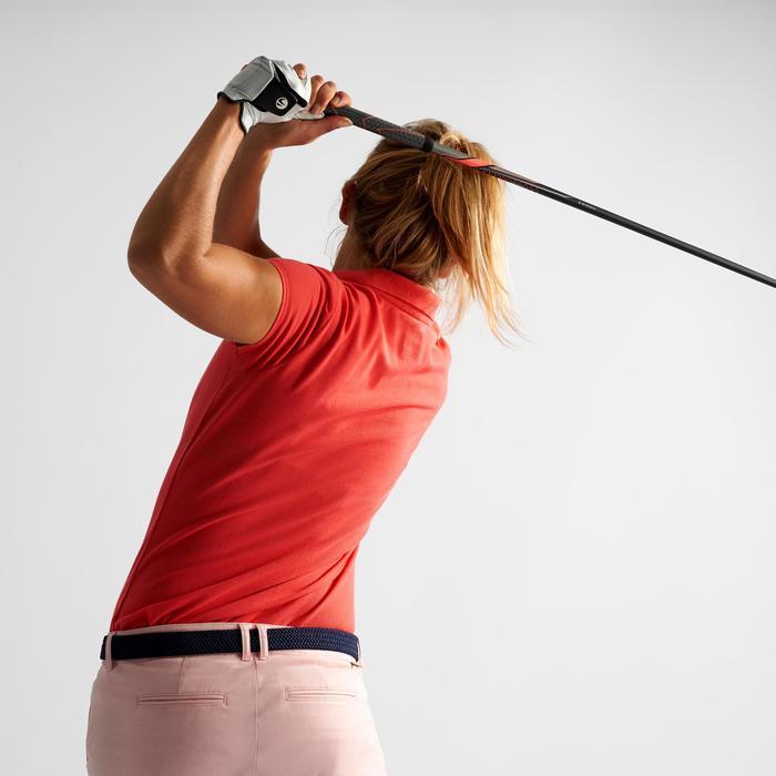 Golf Poloshirt Damen erdbeerrosa