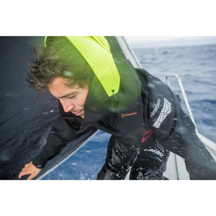 Zeiljas smock jacket wedstrijdzeilen heren Offshore zwart