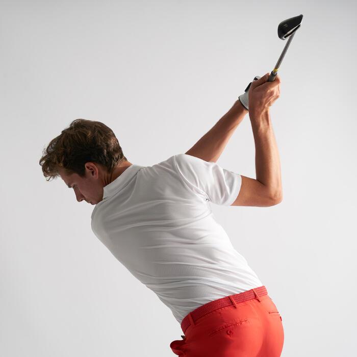 Ademende golfpolo voor heren wit
