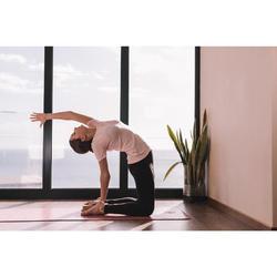 T-Shirt dynamisches Yoga nahtlos Damen rosa