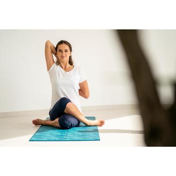 Corsario de yoga suave mujer algodón de cultivo biológico negro gris . e8d06ae4012a