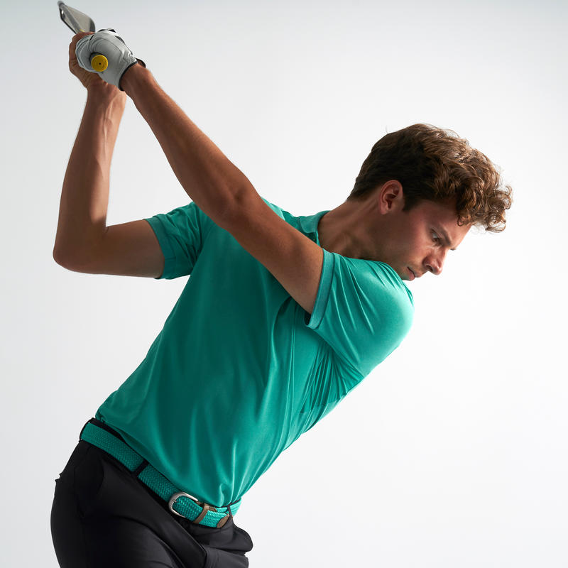 Men's Golf Polo T-Shirt 900 Heather Turquoise