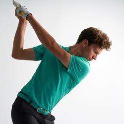 Golf Poloshirt Herren atmungsaktiv türkis