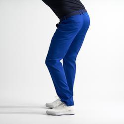 Golfbroek voor heren zacht weer felblauw