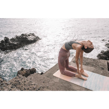Esterilla/Sobreesterilla Viaje Yoga Domyos 1,5 mm Estampado Nubes